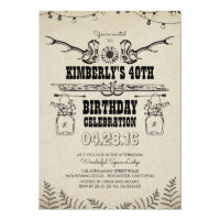 Country Western Cowboy Boots Birthday Party Card