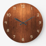 Country Wood Look Kitchen Clock