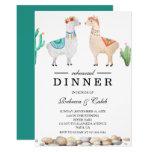 Couple Llama Wedding Rehearsal Dinner Invitation