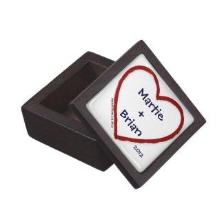Couple's Initials/Names Love Trinket Box planetjillgiftbox