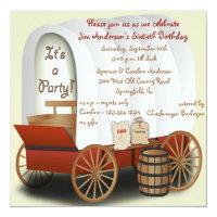 Covered Wagon Barbecue Invitation