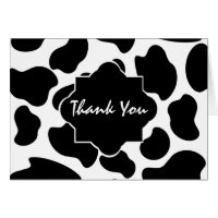 Cow Print Thank You Card