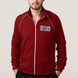 Cowboy Up!  CWBY UP Texas License Plate Jacket