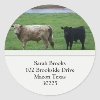 Cows Address Label Stickers