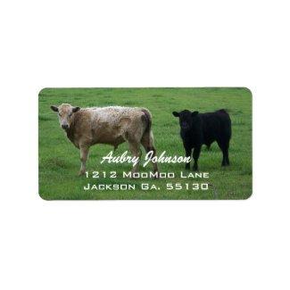 Cows Address Labels