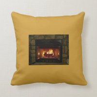 Cozy Fireplace Pillow | Zazzle