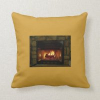 Cozy Fireplace Pillow