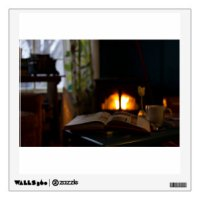 Fireplace Wall Decals & Wall Stickers | Zazzle