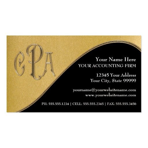 certified public accountant business card - Accountant Business Card