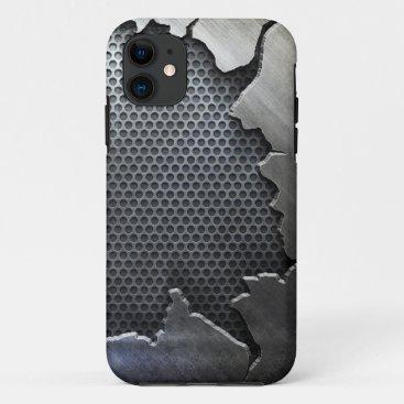 Cracked Metal iPhone 5,  iPhone 11 Case