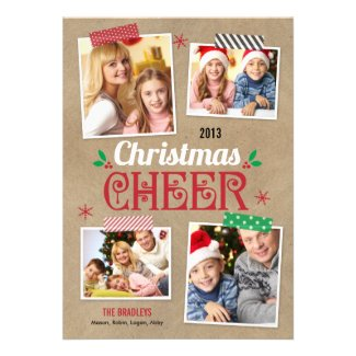 Crafty Christmas Holiday Photo Card Template