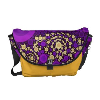Crazy Abstract Rickshaw Messenger Bag