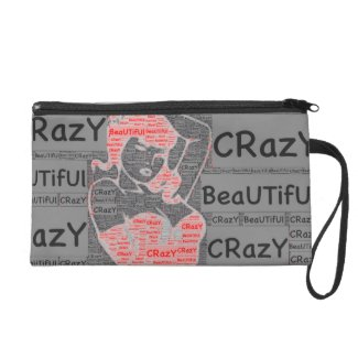 Crazy Beautiful Sueded Mini Clutch Wristlet