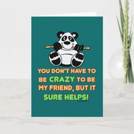 Crazy Friends Card