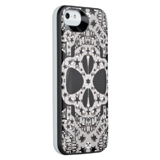 Crazy Skull&Bone iPhone5/5s Battery Case Uncommon Power Gallery™ iPhone 5 Battery Case