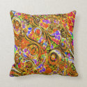 Crazy Twisted Abstract Throw Pillows