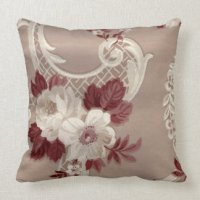 Cream And Burgundy Pillows - Decorative & Throw Pillows ...