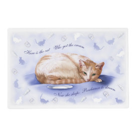 Cream Cat Laminated Placemat