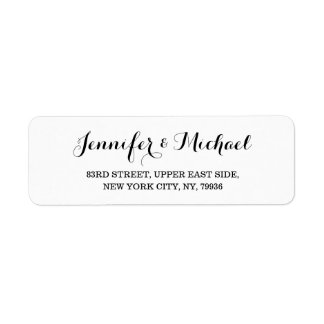 Wedding Return Address Labels  Zazzle