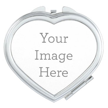 Create Your Own Compact Mirror - Heart