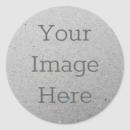 Create Your Own Recycled Speckled Grey Paper Print Classic Round Sticker