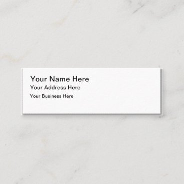 Create Your Own Skinny Business Card