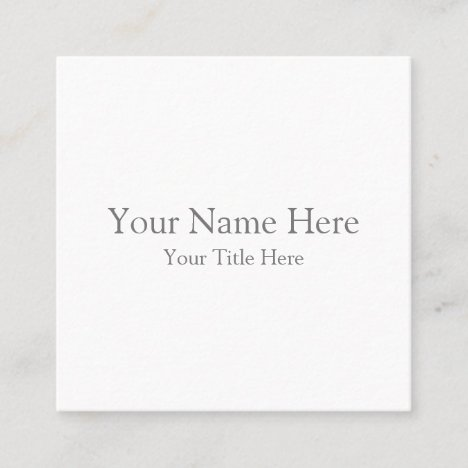Create Your Own Square Business Card