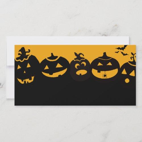 creepy pumpkins holiday card
