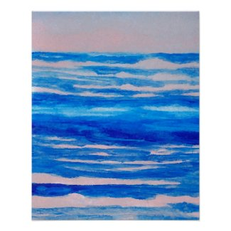 CricketDiane Ocean Poster - Pastel Candy Sea