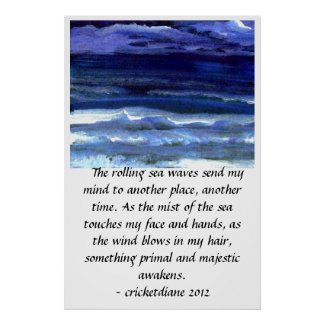 CricketDiane Ocean Poster - Quiet Wonder Seascape