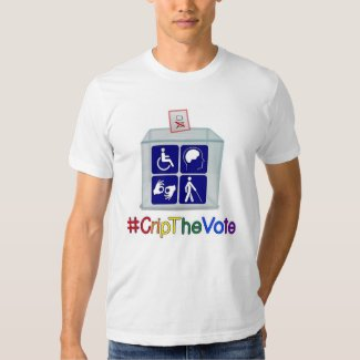 #CripTheVote t-shirt, white, for men