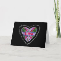 Crocus Heart Romance Valentine Love Card