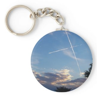 Cross at Sunset Keychain keychain