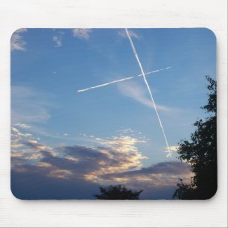 Cross at Sunset Mousepad mousepad
