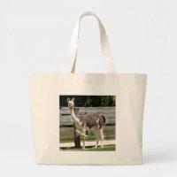 Cross-Legged Llama Tote Bag