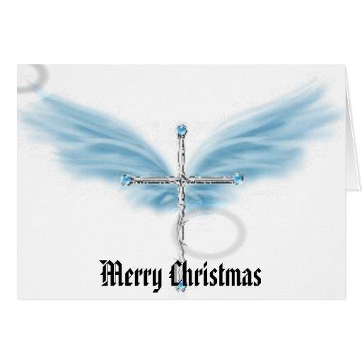 Cross Merry Christmas Card Zazzle