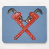 Pipe Wrench Mouse Pads and Pipe Wrench Mousepad Designs