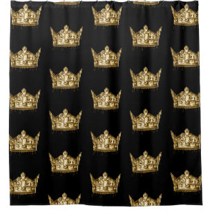 king queen shower curtains zazzle