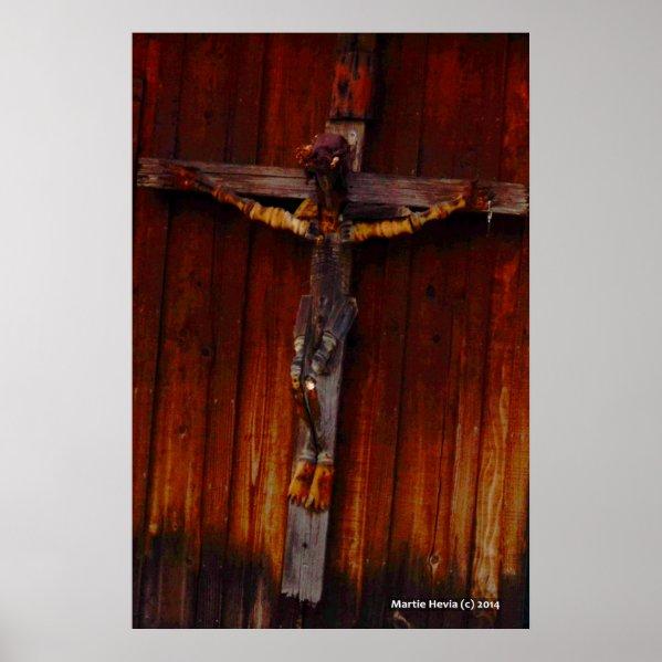 Crucifix on Wood
