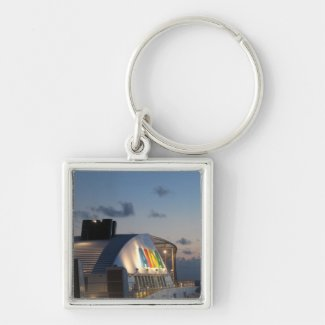 Cruise Ship AIDAluna  - Caribbean Sunset Keychains