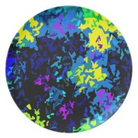 Crystallized Paint Splatter - Cool Colors Dinner Plate ...