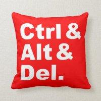 Ctrl & Alt & Del Pillow (inverse colors)   Zazzle