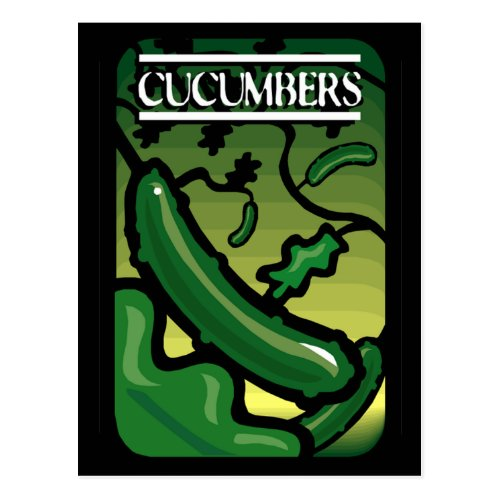 Cucumbers Postcard