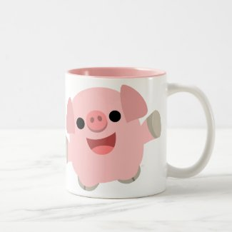 Cuddly Cartoon Pig Mug mug