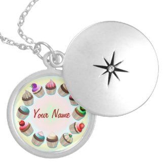 Cupcakes Colorful Circle Necklace