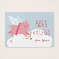 Cupid Pig Activity Classroom Valentine Business Card