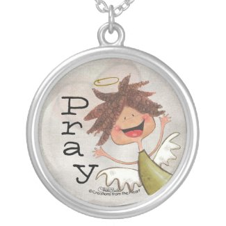 Curly Haired Angel-Pray for Today, Everyday! necklace