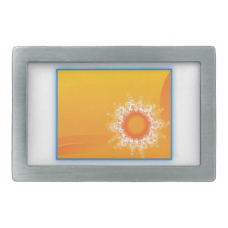 Curly Sunshine Customizable Design Rectangular Belt Buckle