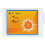 Curly Sunshine Customizable Design cards
