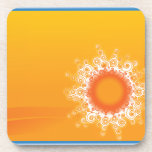 Curly Sunshine Customizable Design cork coasters